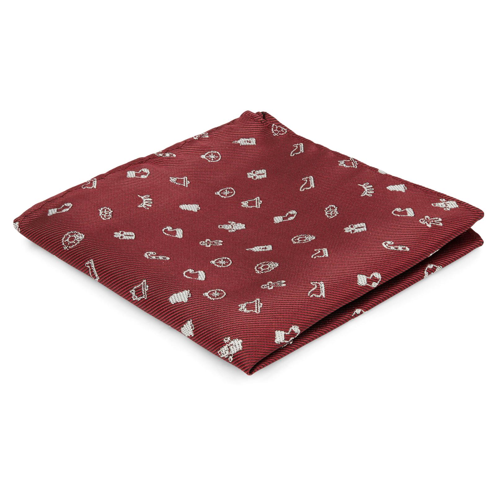 5cf9486120e Bordeauxrode en Witte Kerstpochet