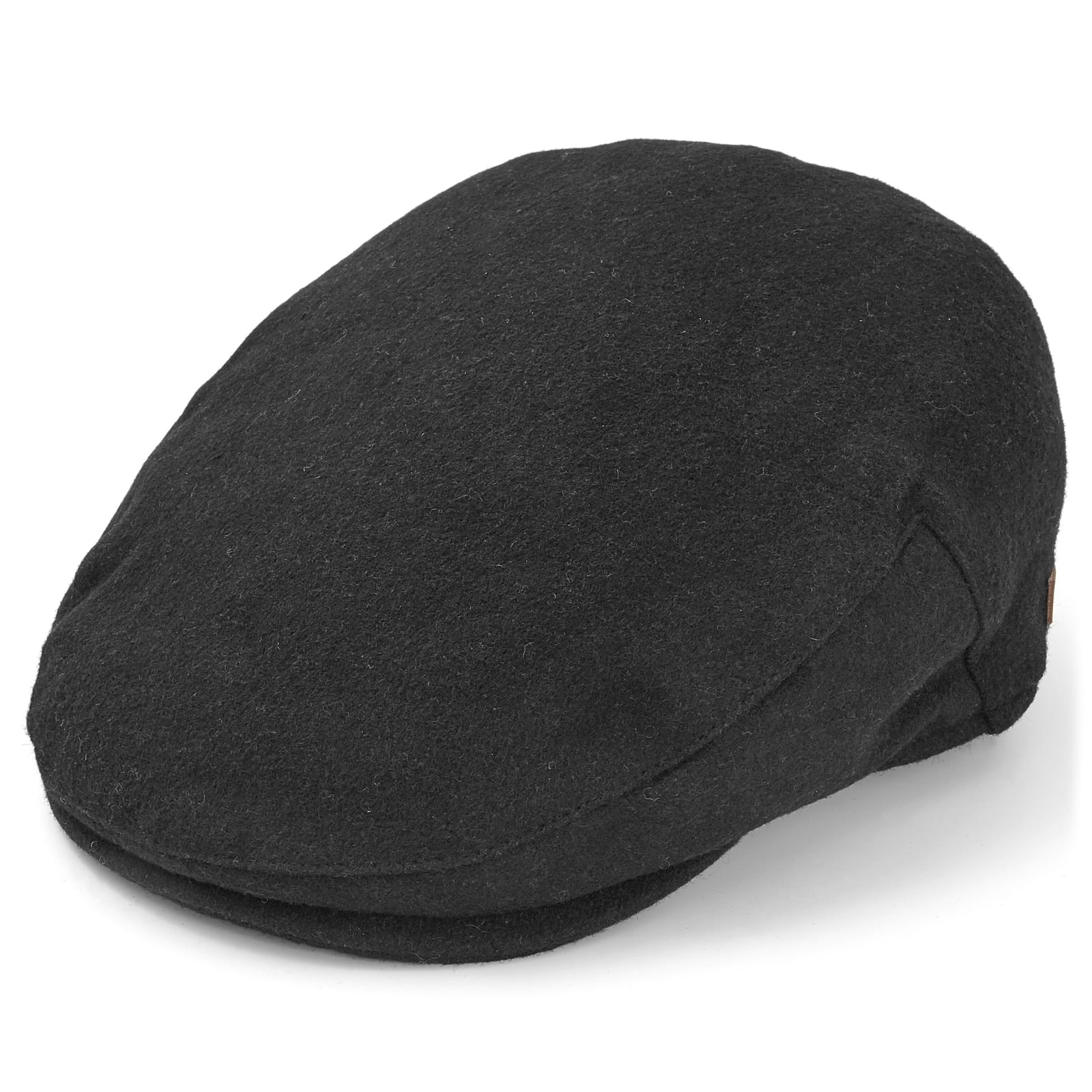 8ee6ed9e8fd6a Black Wool Flat Cap | Major Wear | In stock!