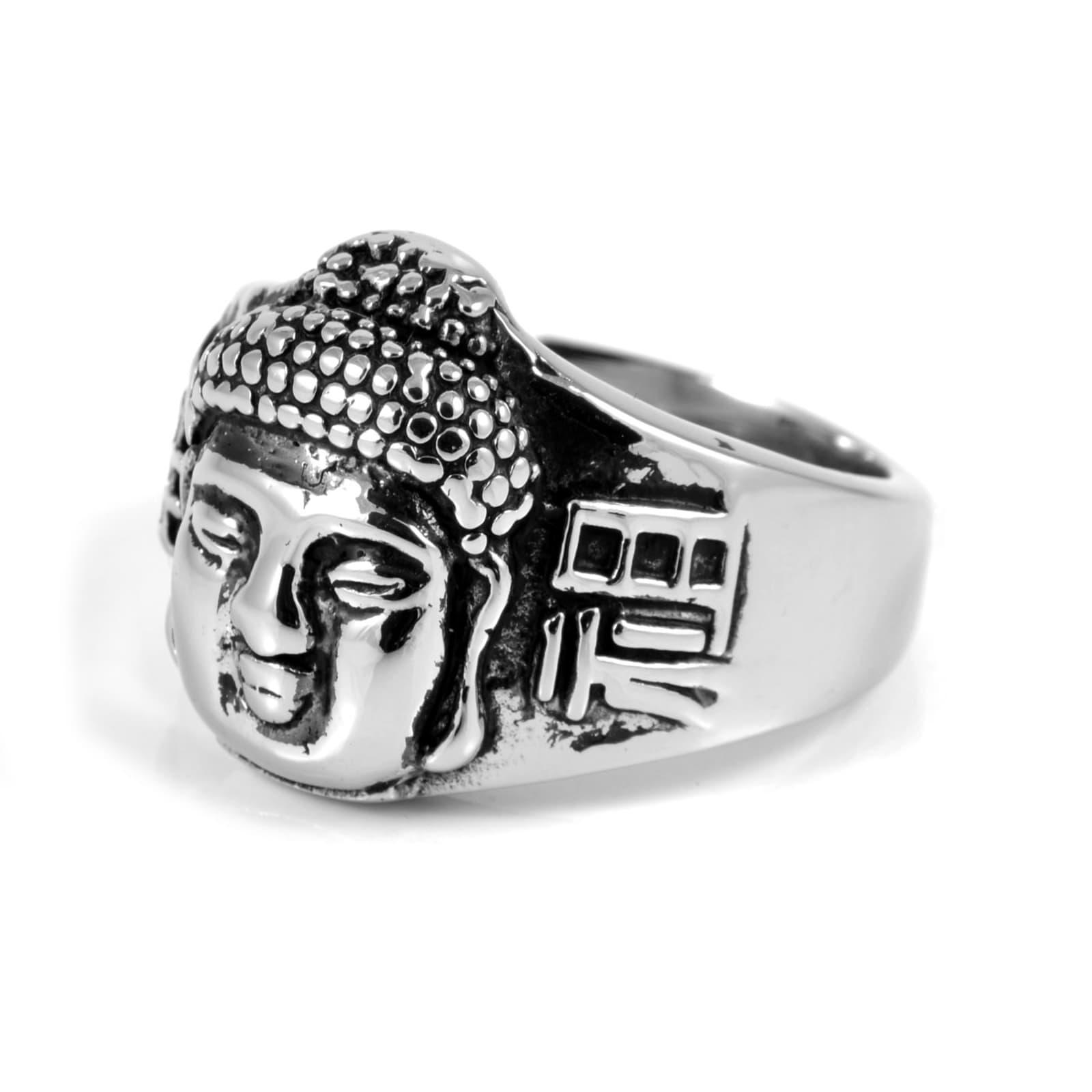 9bcdce3f305 Mannelijke Boeddha Stalen Ring | SteelCZ | Op voorraad