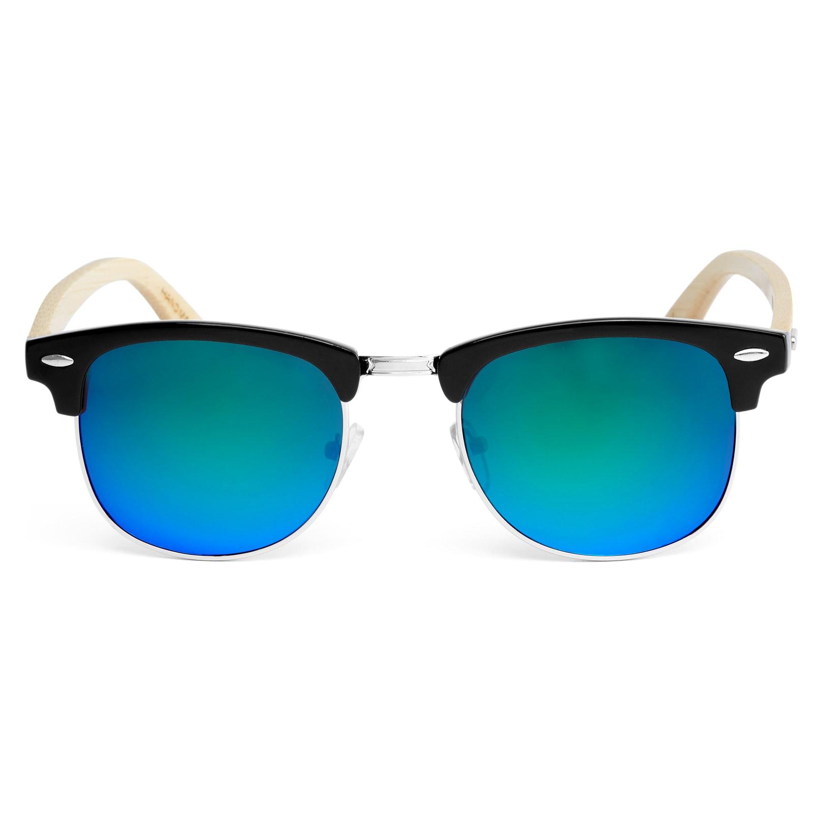 a518468ef966a9 Niebiesko-zielone drewniane okulary przeciwsłoneczne   W sprzedaży!   Paul  Riley