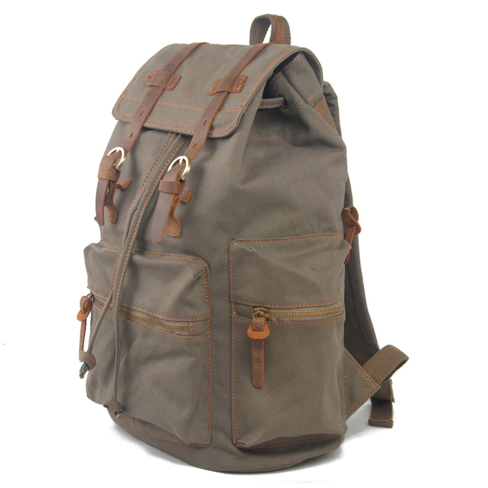 37f6f8420 Zeleno-sivý batoh Paco | Convey | Doručenie zdarma