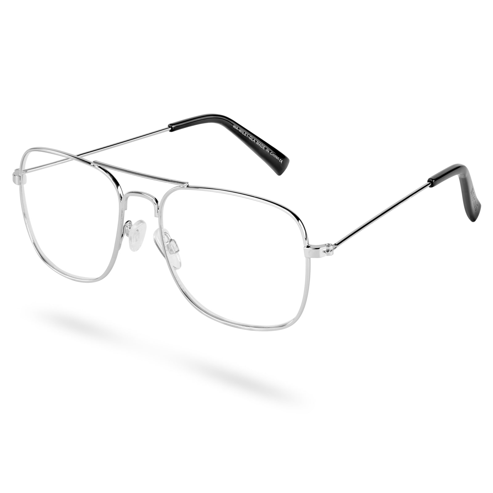 568df31aa4 Wile Aviator Clear Lens Glasses | Waykins | In stock!