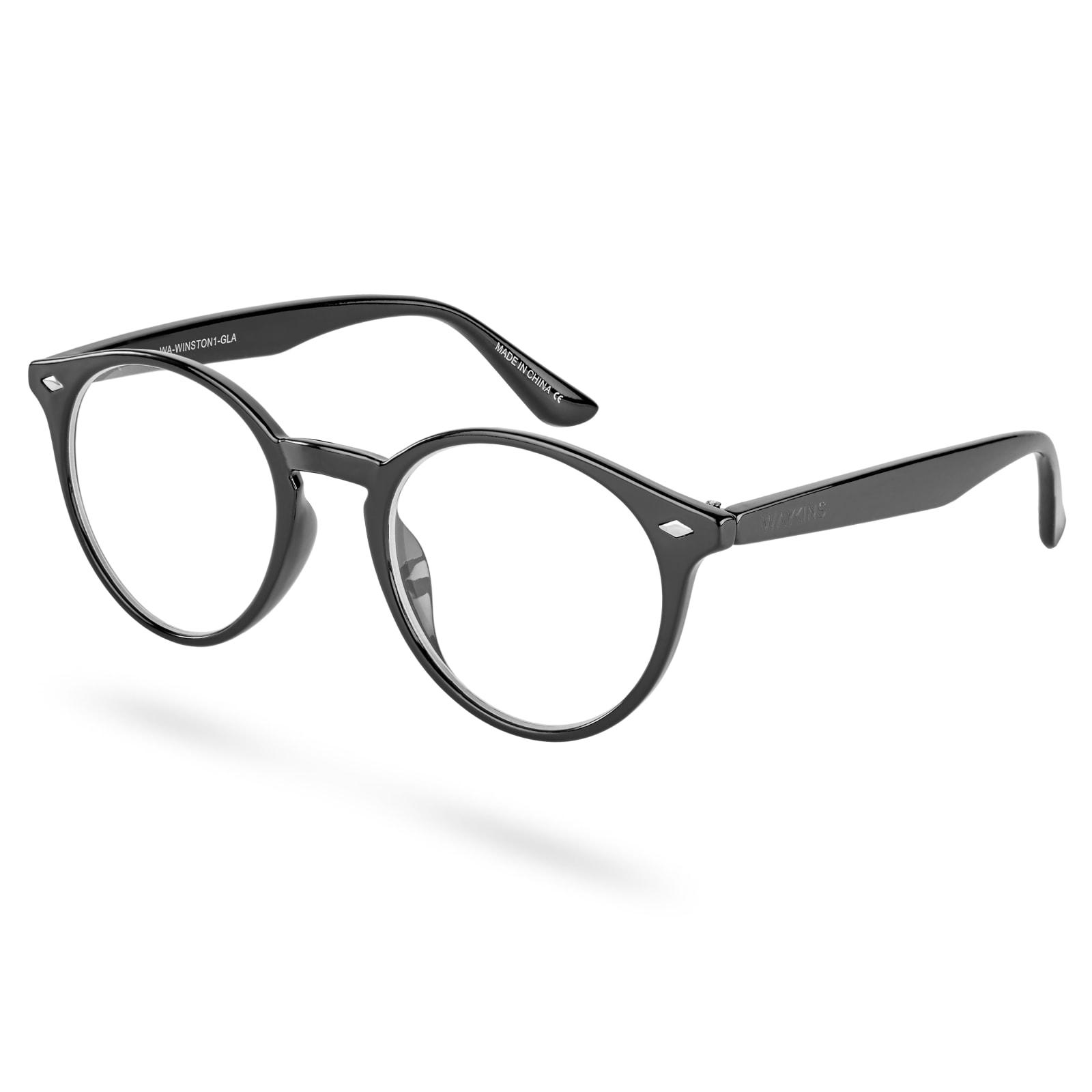 cb8c5f4d4 Čierne okuliare s čírymi šošovkami Winston   Doručenie zdarma   Waykins