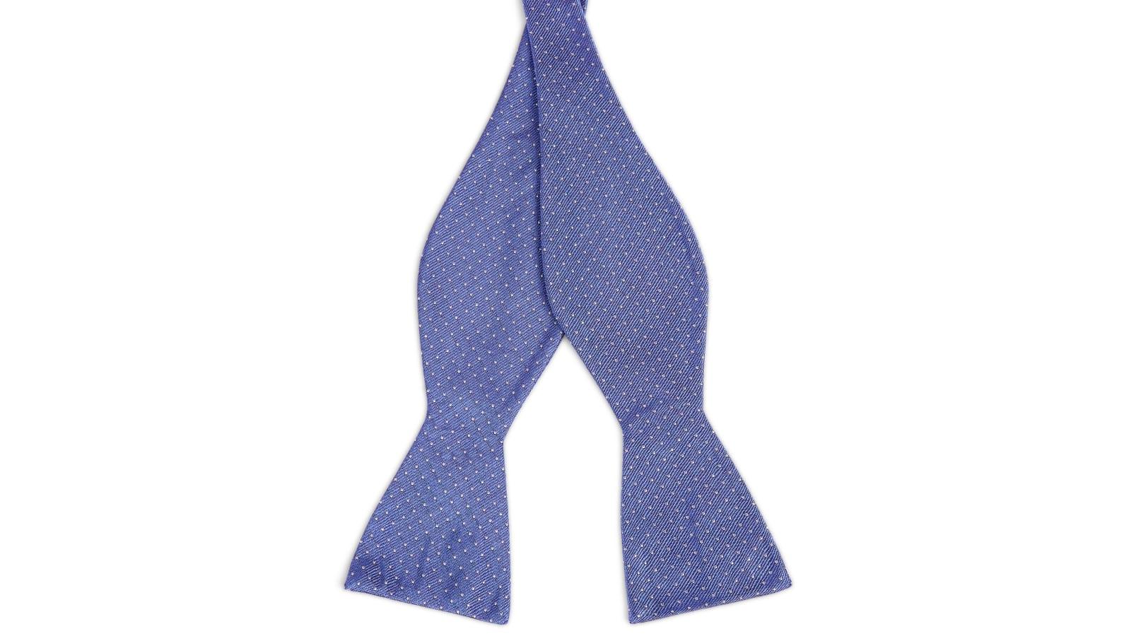 Pastelblauwe Zijden Gestippelde Zelfbinder Vlinderdas | Op voorraad | TND  Basics