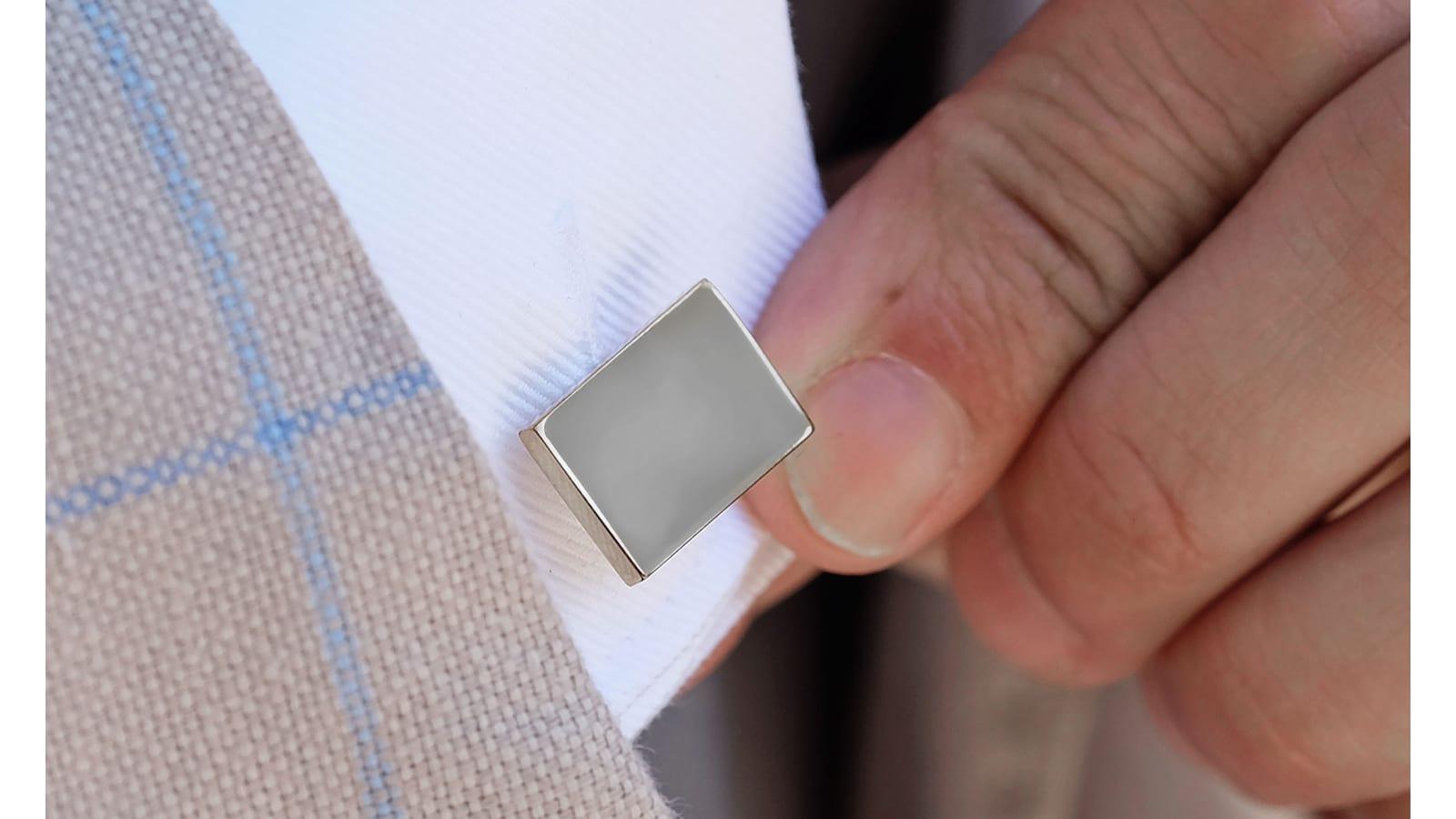 Black Enamel Rectangle Cufflink Business Fashion Cuff Links For Mens Jewelry