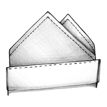 Hvordan folder jeg et lommetørklæde?