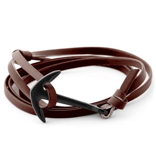 Bruinezwarte Ankerarmband