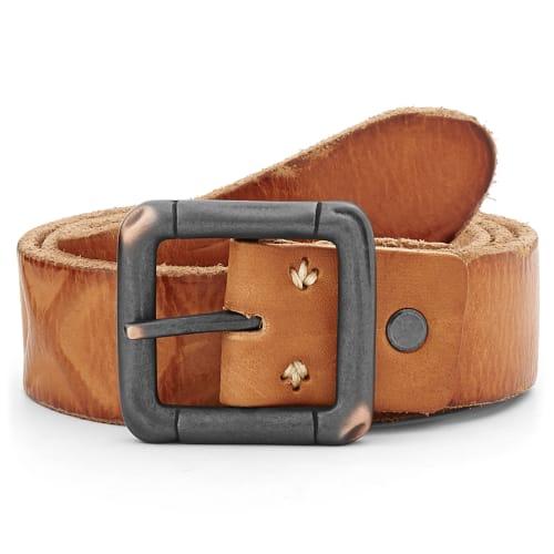 design senza tempo 037cc 5d0ff Cintura in pelle marrone artigianale