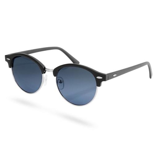 Nuovi Prodotti 1f358 76b58 Occhiali da sole neri con lenti polarizzate fumè blu