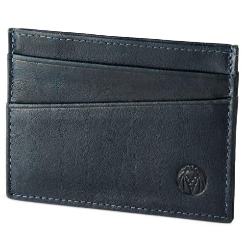 extrêmement unique bas prix magasin meilleurs vendeurs Porte-cartes Montreal en cuir bleu marine anti-RFID