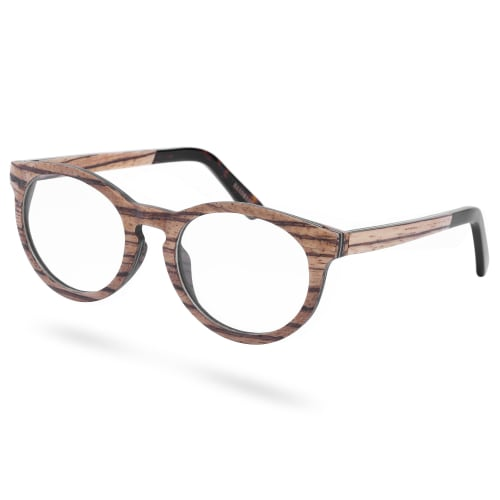 economico per lo sconto 3b2aa c37c4 Occhiali in legno maculato con lenti trasparenti