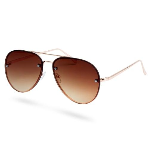 seleccione para el último nueva precios más bajos buena calidad Gafas de sol aviador dorado y marrón