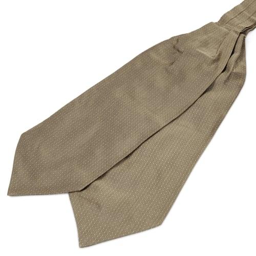 meilleur prix dans quelques jours meilleur en ligne Cravate Ascot en soie beige à pois blancs