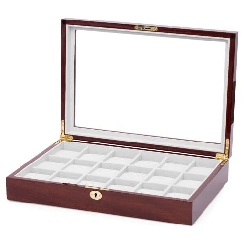 sconto di vendita caldo stili diversi cercare Scatola porta orologi in legno di ciliegio - 18 orologi