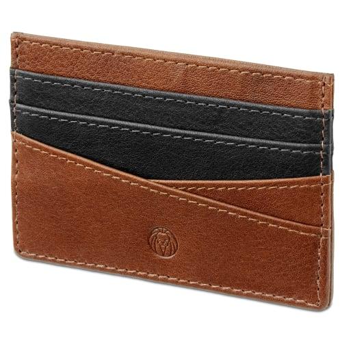 livraison gratuite magasiner pour véritable comment commander Porte-cartes Lacey en cuir havane anti-RFID