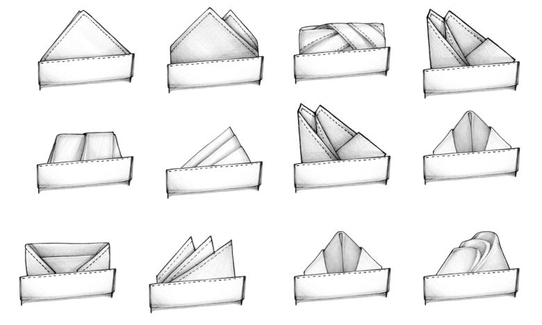52 módja a díszzsebkendők hajtásának 8b6e99e508