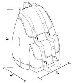 size guide to backpacks