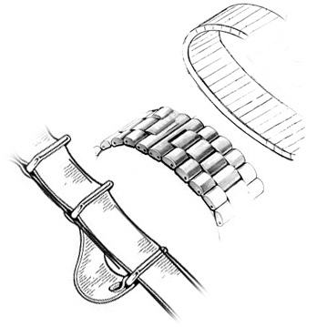 watch bands & watch straps for men's watches