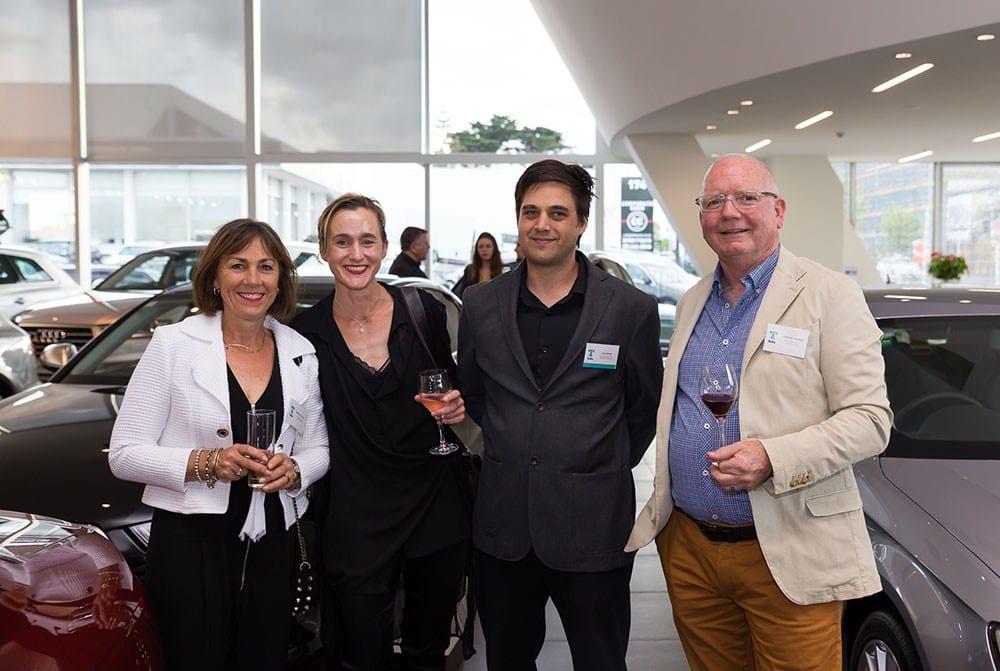 Erika van der Fluit (home owner), Saskia Baetens, Tom Rowe (Rowe Baetens Architects) with Graeme Thorne (home owner) – winner TIDA Architect-designed Renovation