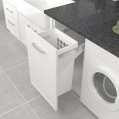 Tanova Simplex Laundry Pull Out 450mm Plastic Basket White