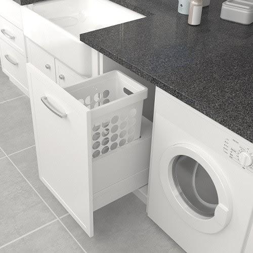 Tanova Simplex Laundry Drawer Frame Insert 300mm Plastic Basket White