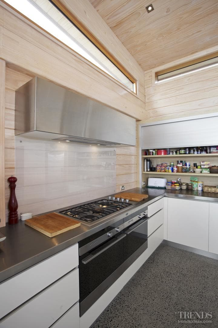 Modern, Irene James-designed kitchen in Lockwood house