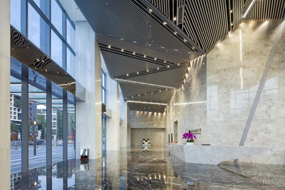 Retail pavilions, office tower and transportation hub integrate development into urban plan