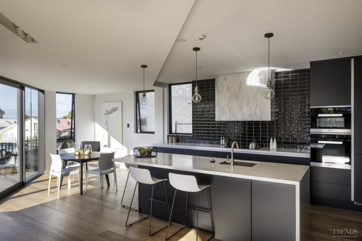 Light industrial touches link this apartment kitchen to its wider heritage environment
