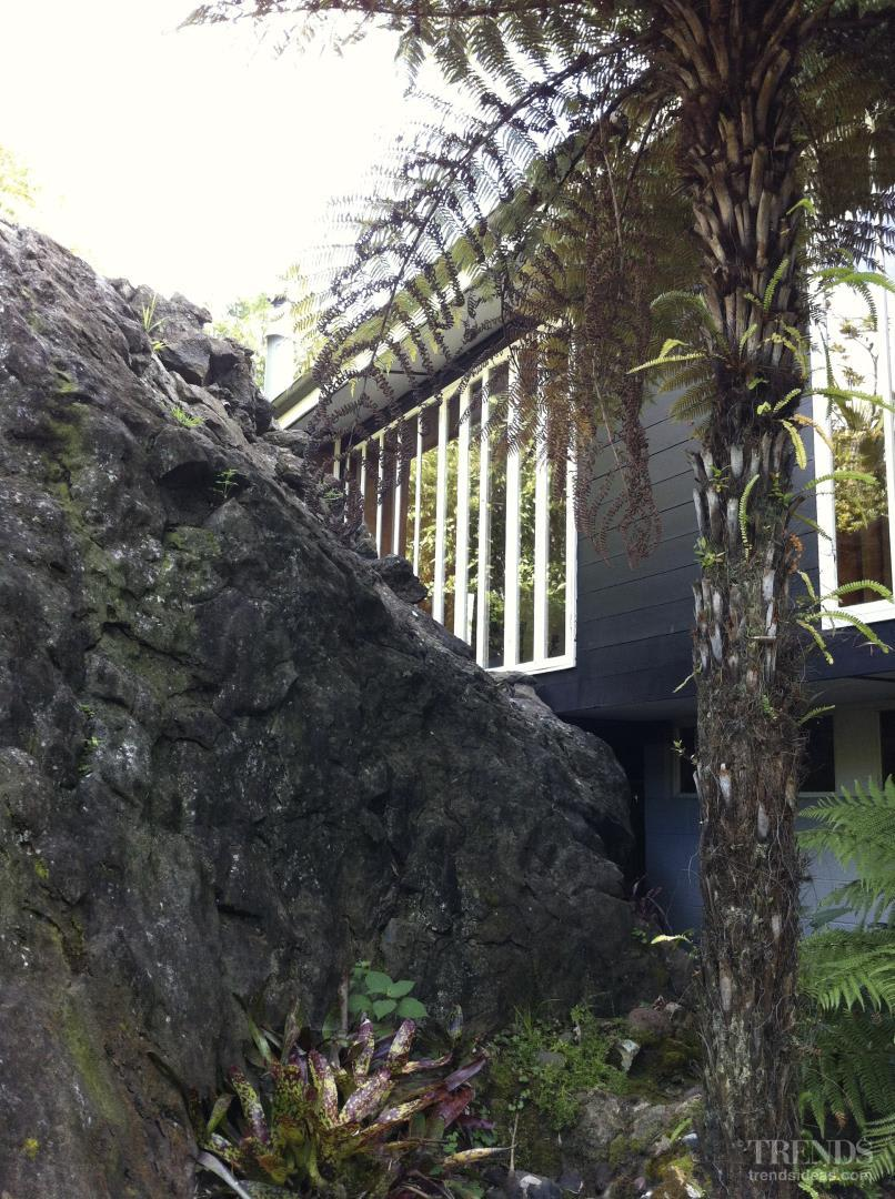 Under the mountain – volcanic rock inside house