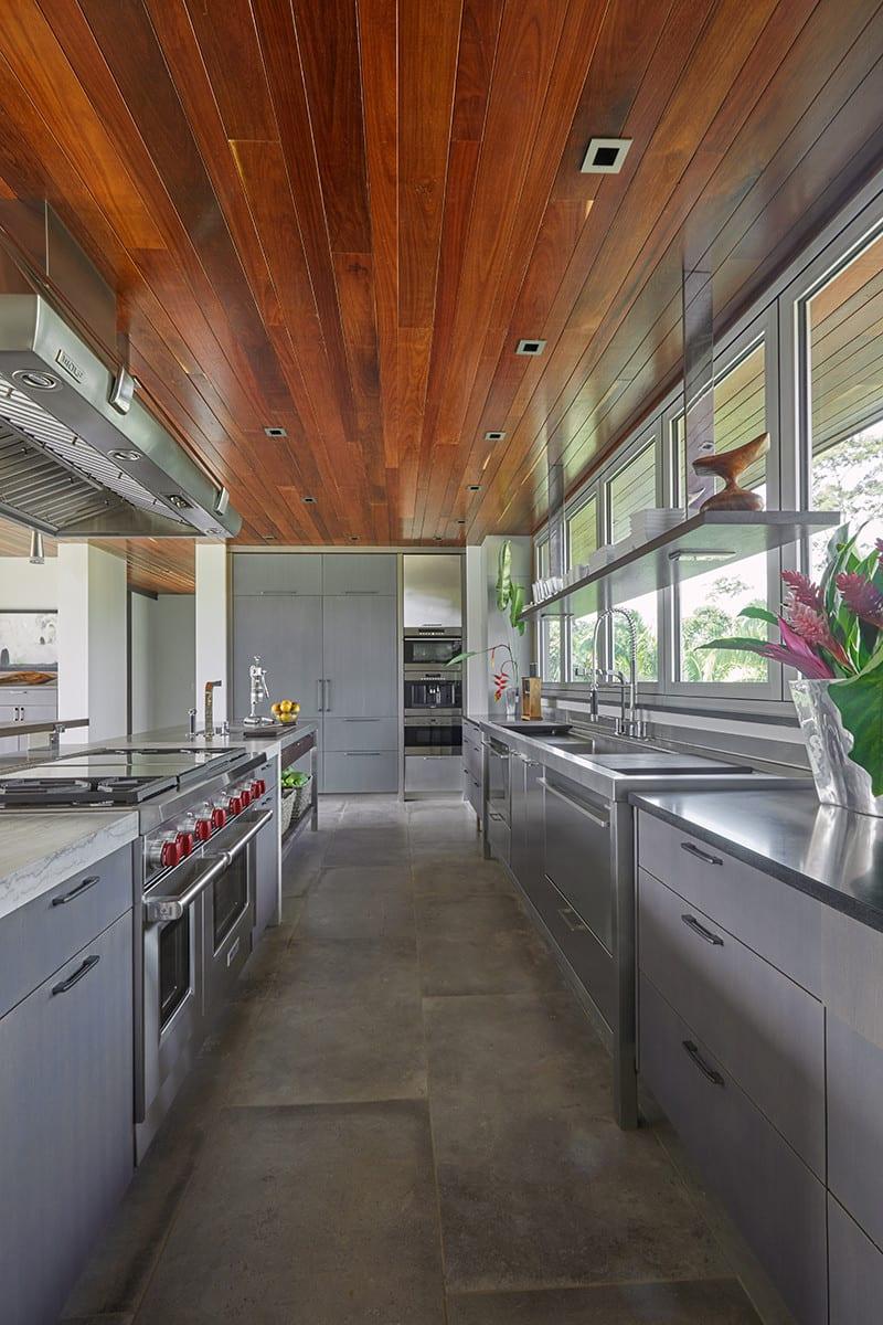 Individualistic kitchen design provides seamless workflow even when entertaining