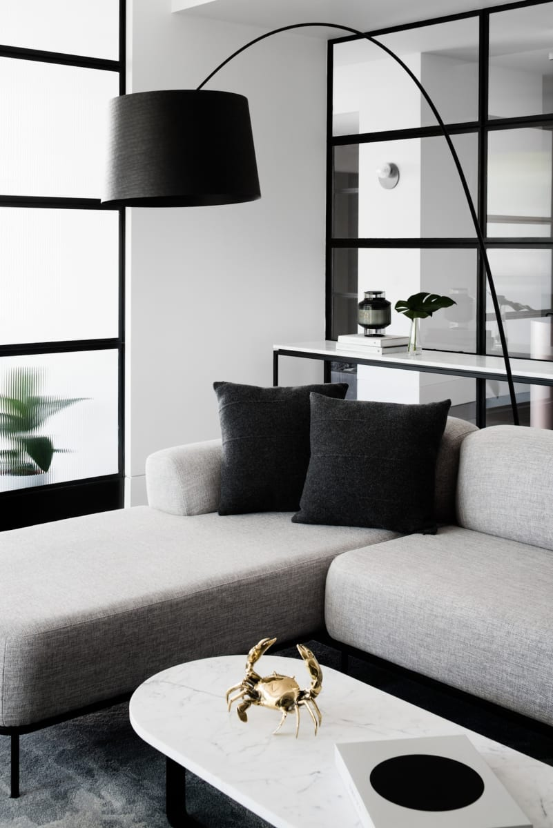 This apartment is as much about the fittings as it is about the design