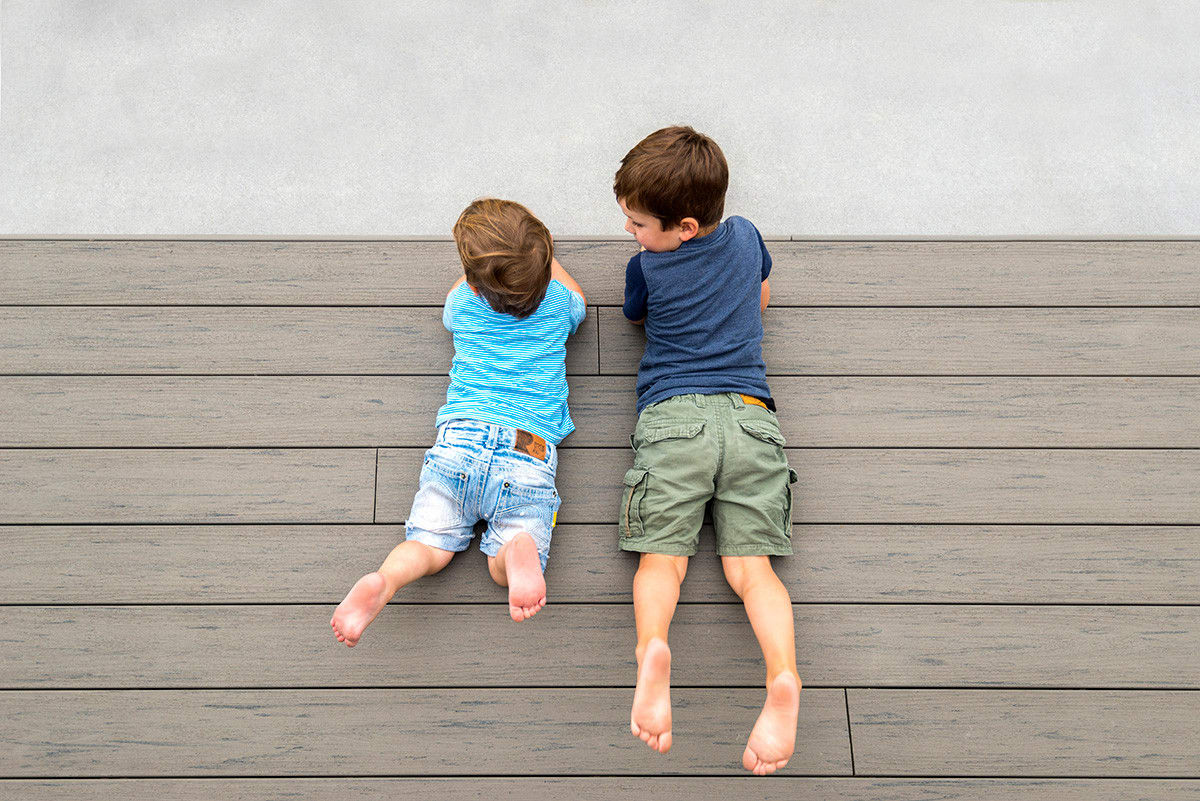 Splinter-free TimberTech decking is perfect for family living