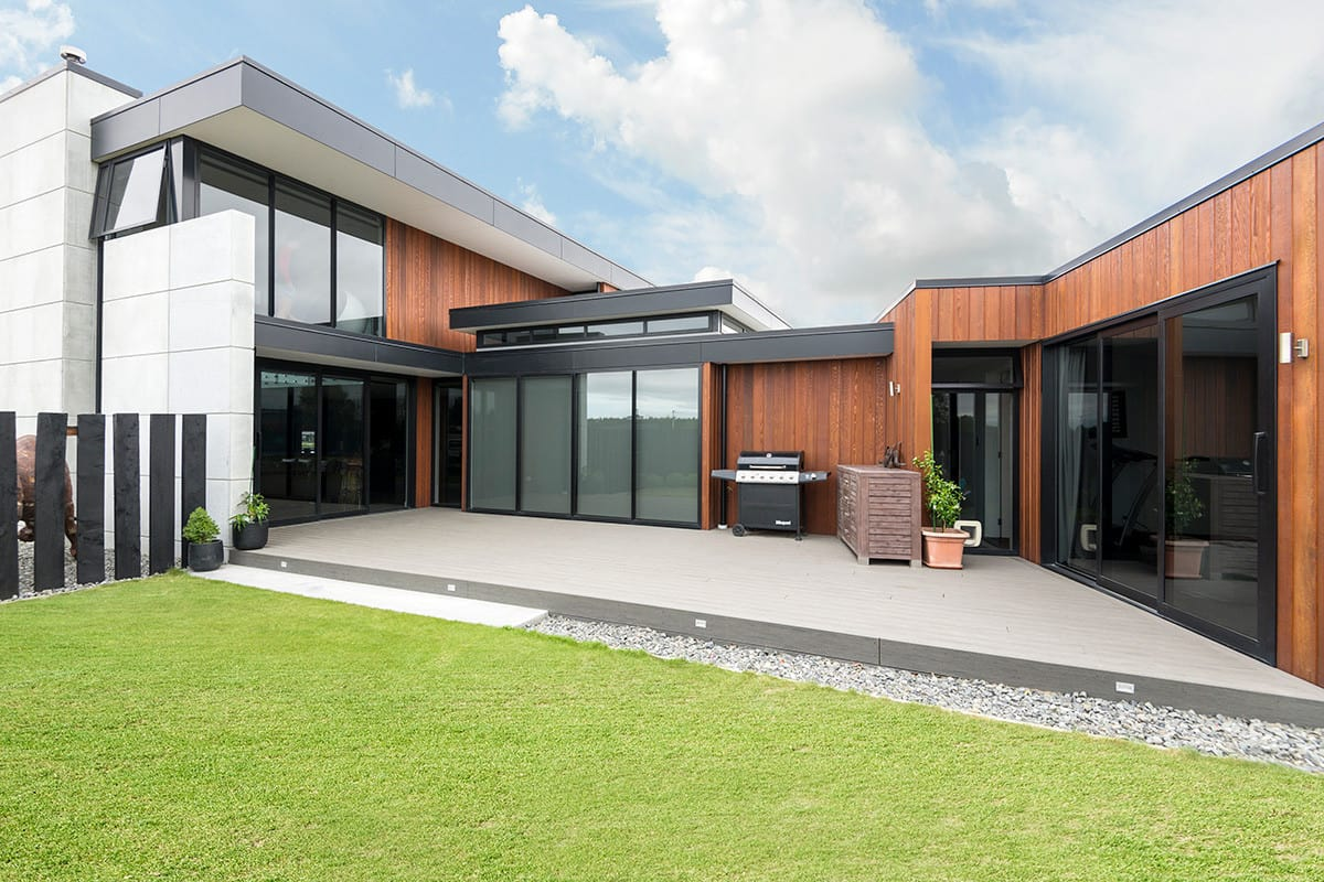 Canterbury NZ home features Terrain decking by Niagara