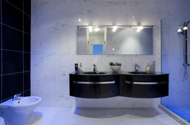 Conversation piece - Modern European bathroom designed by Carlos Carvalho