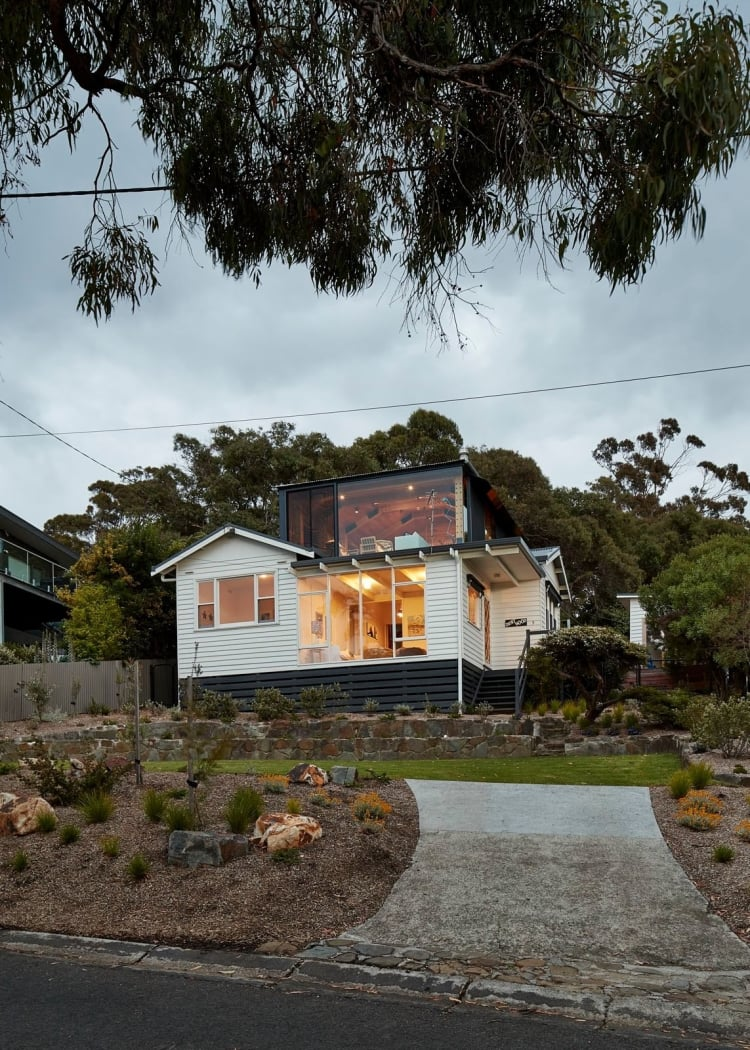 Rather than demolishing the existing home, it has been retained, refreshed and an addition constructed behind