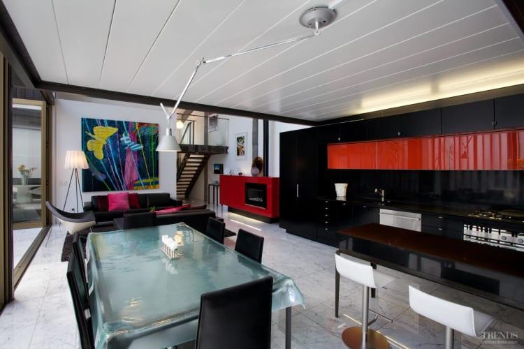 Urban loft-style apartment