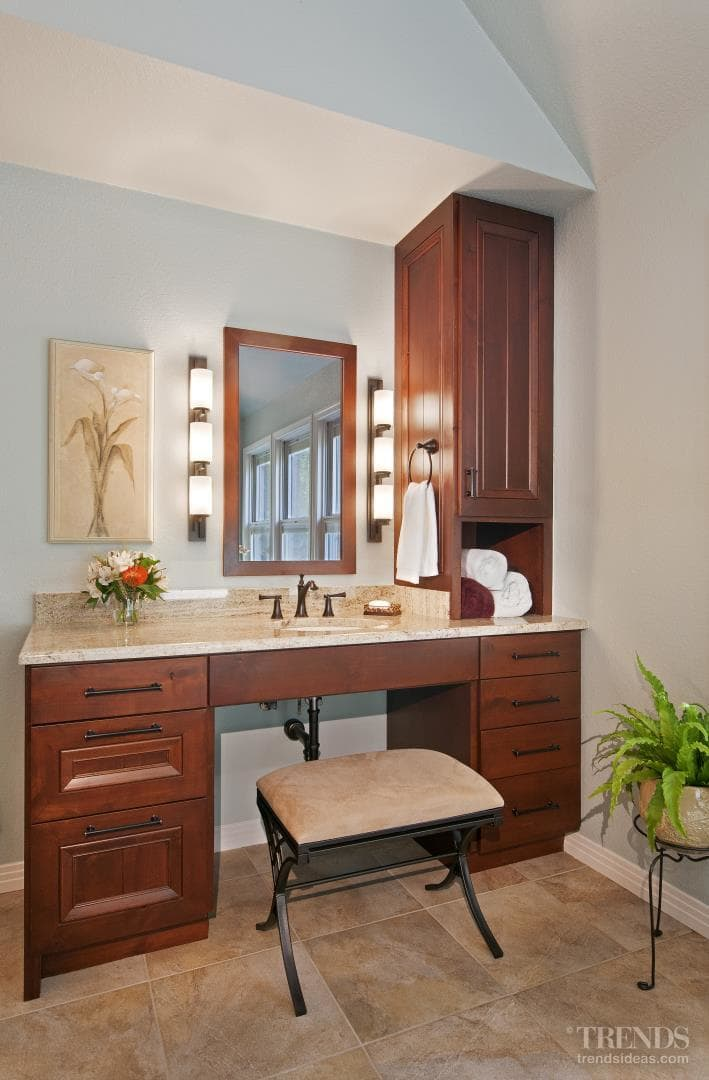 Bathroom remodel with wheelchair access