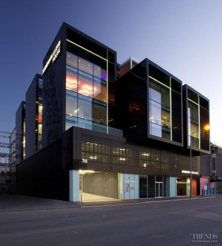 New commercial building in Christchurch clad in Alpolic composite aluminium