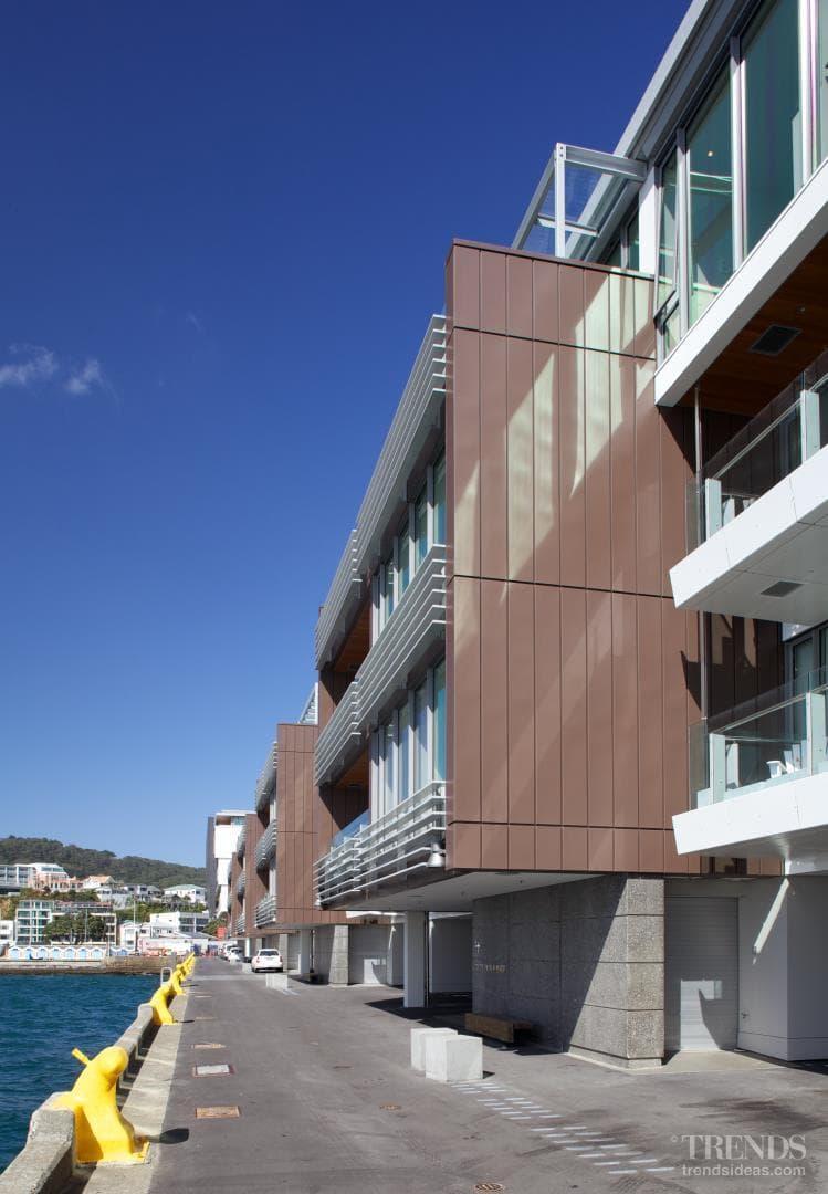 Zinc cladding for wharf apartment building