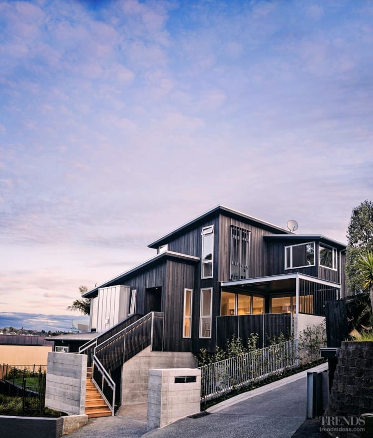 This house features metal doors and windows from Windowmakers