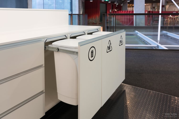 Hideaway Bins make recycling easy in any commercial setting