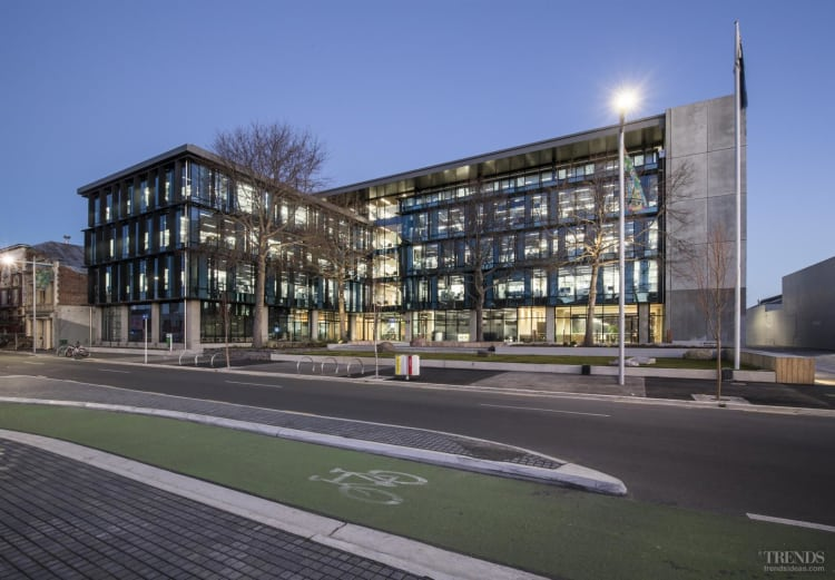 ECAN building design features complex engineering to withstand earthquakes