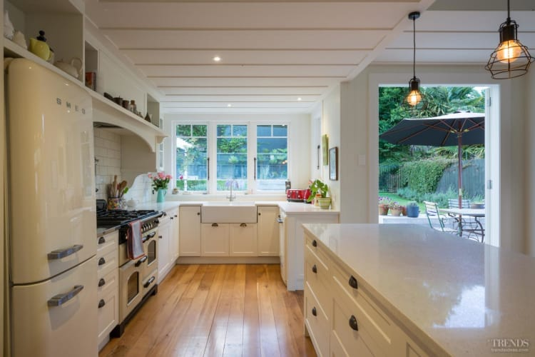 New lean-to adds valuable space to this retro kitchen makeover
