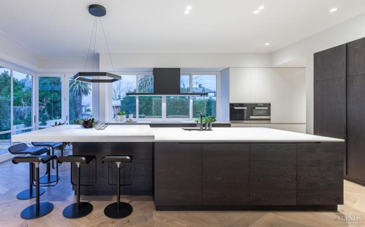 Contemporary upmarket kitchen suits renovated villa setting workwithnaturefo