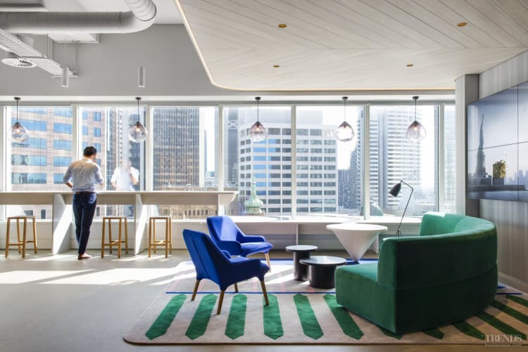 Activity based work, office design breaks down communication barriers and stimulates productivity