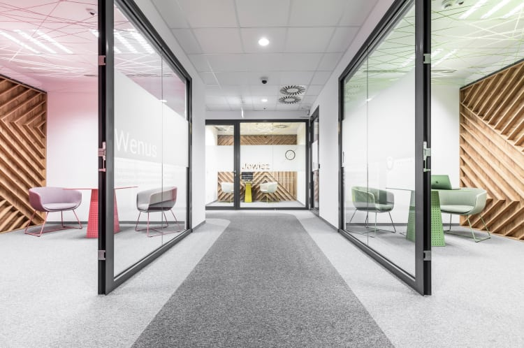 The challenge for this project? Design a space that not only fosters concentration while working, but also allows staff to fully rest during breaks