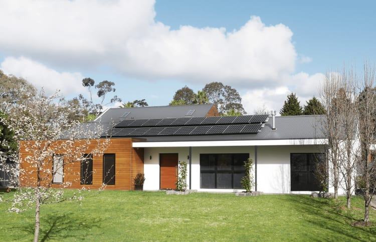 Sustainability was a top priority, as evidenced by these solar panels