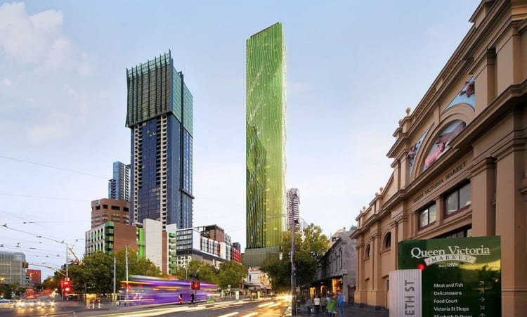 A green jewel, the new tower is different to anything Melbourne has ever seen