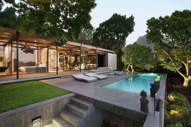 Dive into the elegant pool, before drying off in the sun