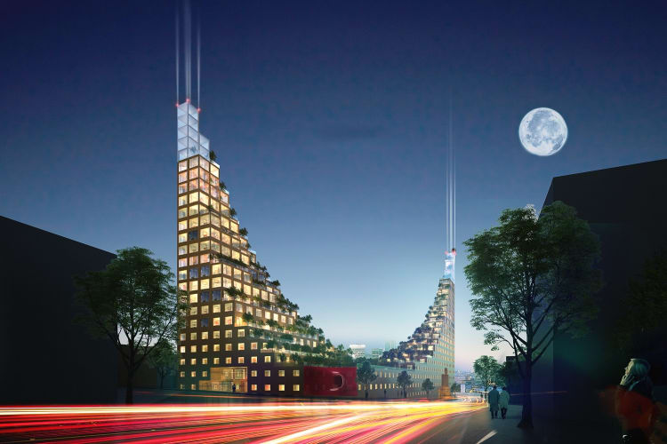 This building is inspired by the Hanging Gardens of Babylon